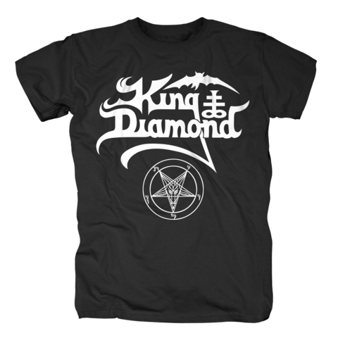 White Logo von King Diamond - T-Shirt jetzt im King Diamond Shop