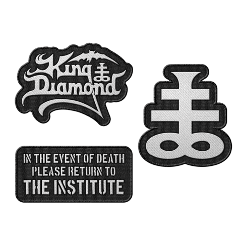 The Institute Essentials von King Diamond - 3er Aufnäher Set jetzt im King Diamond Shop