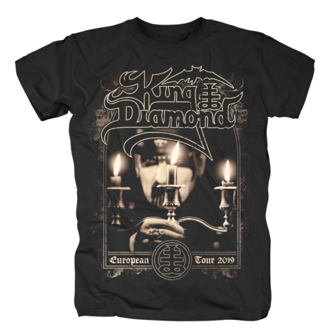 Candles - European Tour 2019 von King Diamond - T-Shirt jetzt im King Diamond Shop