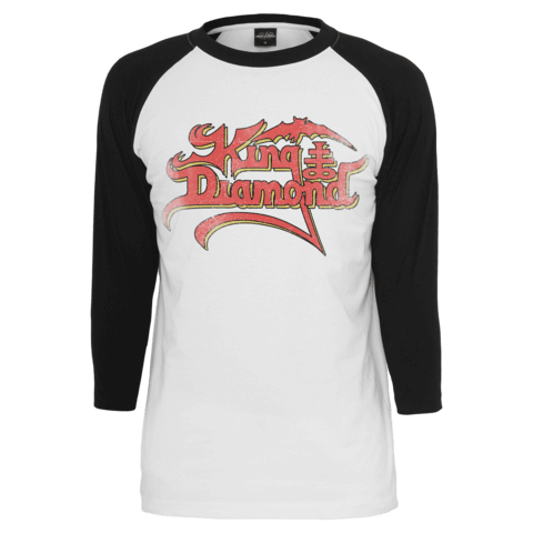 Distressed Logo - Europe 2019 von King Diamond - Longsleeve 3/4 Raglan jetzt im King Diamond Shop