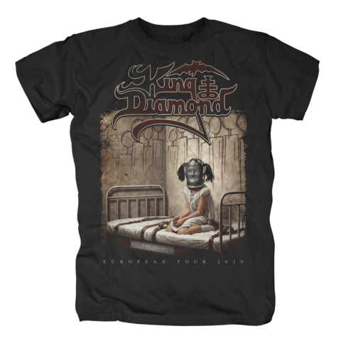 The Institute - European Tour 2019 von King Diamond - T-Shirt jetzt im King Diamond Shop