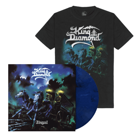 Abigail (Ltd. Bundle Midnight Blue / White LP + T-Shirt) von King Diamond - LP Bundle jetzt im King Diamond Shop