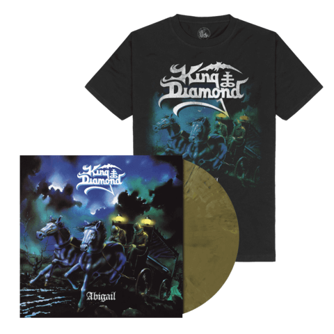 Abigail (Ltd. Bundle Khaki Brown Marbled LP + T-Shirt) von King Diamond - LP Bundle jetzt im King Diamond Shop