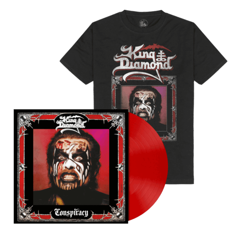 Conspiracy (Ltd. Bundle Opaque Cherry Red Vinyl + Shirt) von King Diamond - LP Bundle jetzt im King Diamond Shop