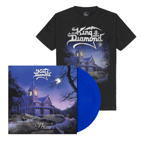 Them (Ltd. Bundle Clear Royal Blue Vinyl + Shirt) von King Diamond - LP Bundle jetzt im King Diamond Shop